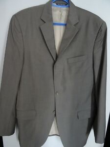 Men's Black Brown 1826 Reda Suit Jacket 100% Wool Italy Size 40L