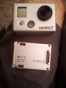 GoPro Hero 2 with extra battery and modular attachment