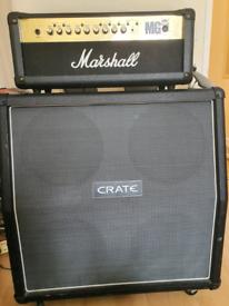 Marshall MG100FX 100W head + Crate 4x12 cabinet speaker