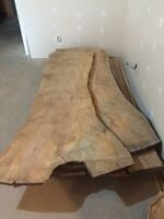 Gorgeous large thick maple slab wood, great for counter tops