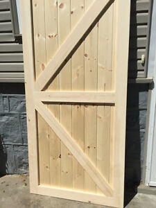 Sliding Barn Door Custom Handcrafted 40 x 86 Unfinished or Finis