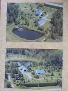 Terre boisée de 105 arptents avec maison près de la ville