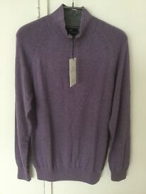 Bnwt M & S cotton cashmere zip top (small)