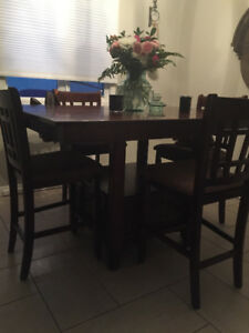 Beautiful Countertop High Dining Room Set