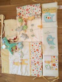 Lollipop lane baby bedroom bundle (cot bed size)