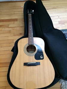 Epiphone DR-100 Acoustic guitar - LIKE NEW