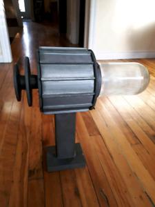 4x Lampes Vintages Industrielles