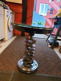Jaguar alloy wheel table (spins)