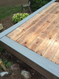 Gray Composite deck boards 1/2 price