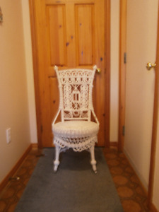 Antique looking wicker chair