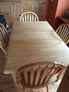 Hardwood Kitchen/Dining Set with Four Chairs