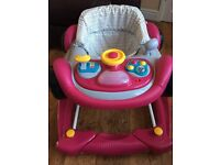 Mothercare 2 in 1 Red Car Baby Walker / Rocker