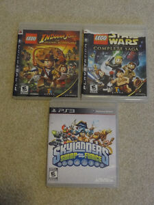 Playstation 3 Games Indiana Jones Star Wars Lego Skylanders