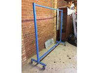 Steely heavy duty clothing rail very good condition
