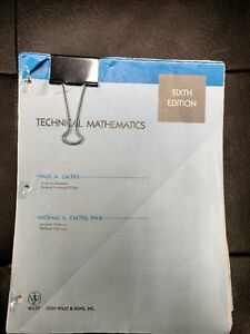 TECHNICAL MATHAMATICS TEXTBOOK
