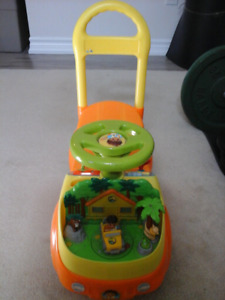 Three in one Diego pull push are ride toy $15