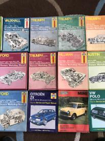Haynes Car and Workshop manuals.
