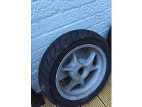 Honda Dylan front and rear wheels and tyres