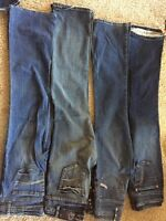 Size 27 or 8 jeans 4 pairs asking $15 for all