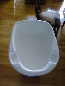 A baby bath seat and top