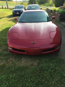 2000 Magnetic Red Corvette