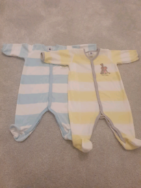 Barely worn Petit Bateau Sleepsuits size - 3 months