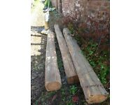 Wooden Beams / Sleepers for Landscaping / £50ono