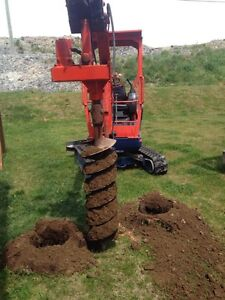 POST HOLES Done Auger or Bucket St. John's Newfoundland image 2