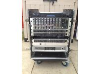 Mixer rack case