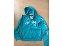 Turquoise blue medium ladies hollister hoodie