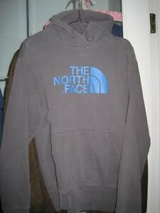 Men's Polar Fleece North Face Pullover Hoodie - Size Large