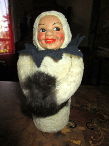 Antique Snowmen Candy Container -Germany