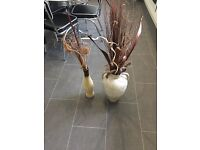 Decorative Vases with Dry Sticks both for a total of £5