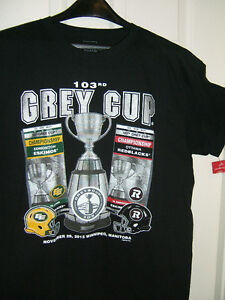 MENS NEW  Ottawa/Edmonton Grey Cup CFL licensed t-shirt-with tag