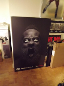 JAMES HARDEN GIANT ADIDAS PROMO POSTER MOUNTED!2016~VERY RARE!