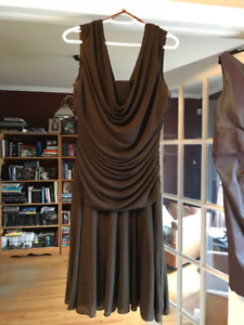 Chocolate Brown Dress by Le Chateau / Size L / Worn Once