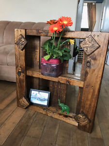Handcrafted wood pallet shelf