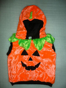 Infant Baby Pumpkin Plush Halloween Costume Size 12-18 Months EU