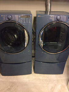 Blue Matching Washer and Dryer Set
