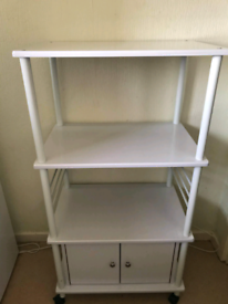 Kitchen trolley with cupboard