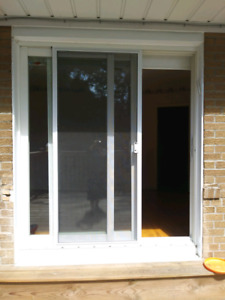 New like white sliding patio doors