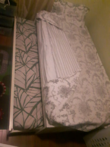 Twin bed with second pullout bed