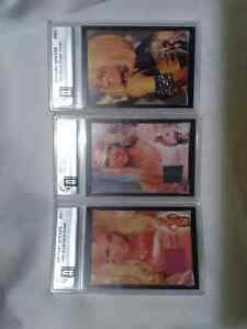 Britney Spears 3 graded  pieces of material worn with COA.