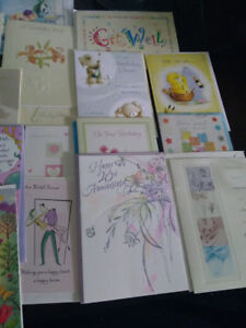 Selection of top quality greetings/special occasion cards. More