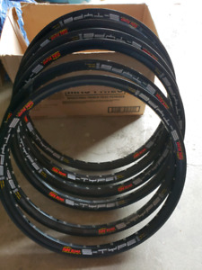 "Assorted 24"" bike rims"