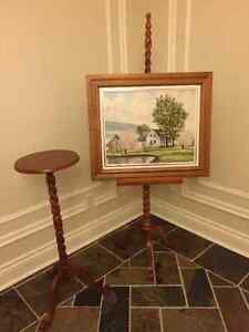 Small table with Matching Painting Stand West Island Greater Montréal image 4
