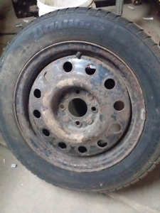 Barum polaris snow tires and steel wheels for 4x108