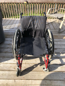 Action MVP Small Manual Wheelchair (Black & Red)