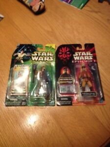 STAR WARS NABOO ROYAL SECURITY TALKING FIGURE & COLL.2 JEDI FORC