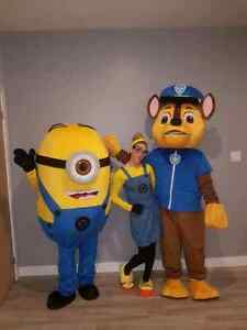 Animation, mascotte chase, minion,divertissement, fête d enfants
